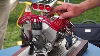 Mini CNC 4-axis and Miniature Chevrolet V8: Super Sound!!