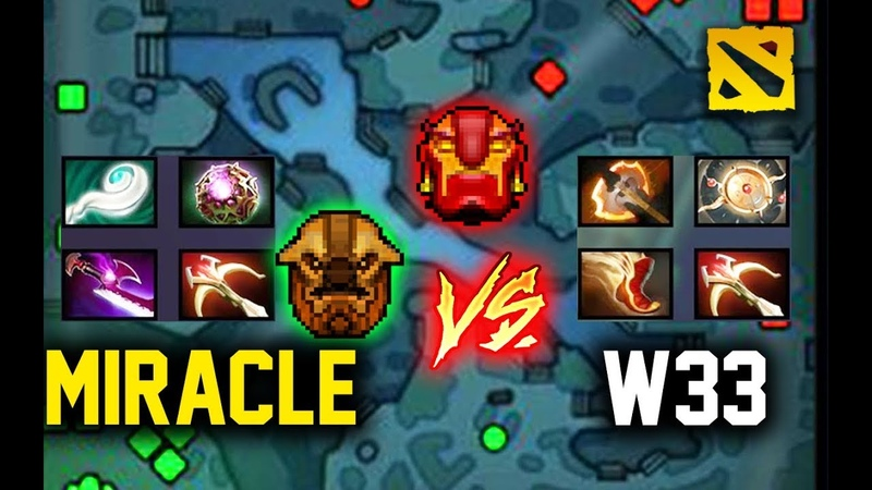 When Miracle Meets w33 mid, Its Explosive! Dota 2