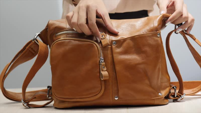 2018 fashion unisex shoulder bag genuine leather universal large-scale multi-purpose bag ladies crossbody bag Hiking bag