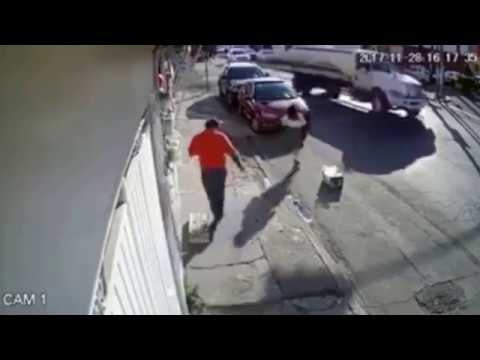 CCTV Captures Strange Force Knocking A Girl To The Ground