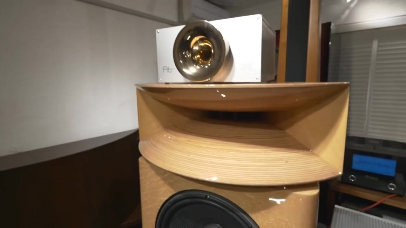 Absolutely perfect! KRS Birdseye Maple Speakers Plasma Tweeter driven by 20 Watts 845 tube amps 8