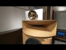 Absolutely perfect KRS Birdseye Maple Speakers Plasma Tweeter driven by 20 Watts 845 tube amps 8