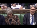 WATCH: Theresa May 'FALLS ASLEEP' as PM and Hammond mock Corbyn's tiresome NHS argument