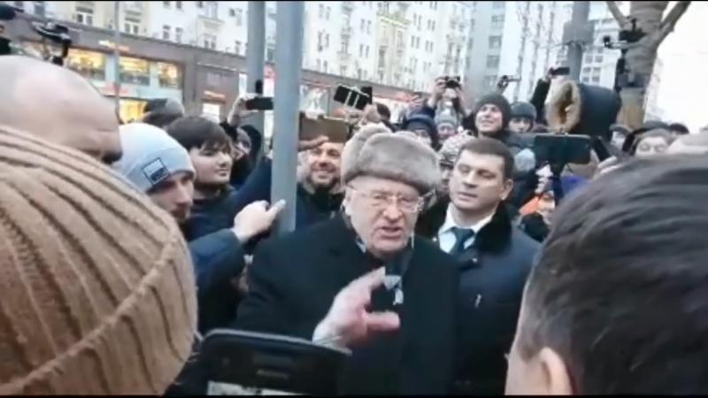Жириновского поймали и зачморили на митинге Навального 28 января