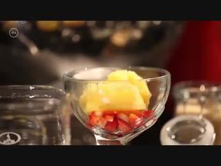 Молекулярная кухня. Карпаччо из палтуса с молекулярным бискотто от Мирко Калдино