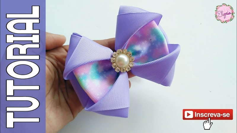 Laço Celia 🎀 Ribbon Bow Tutorial 🎀 DIY by Elysia Handmade