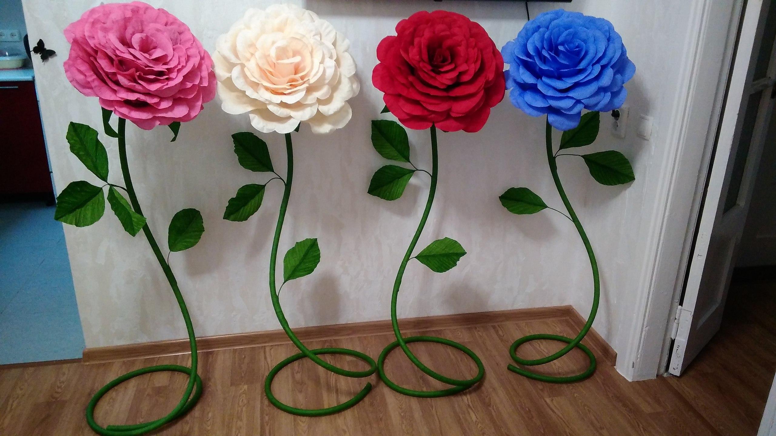 Ростовая роза из гофрированной бумаги своими руками пошаговая инструкция 38