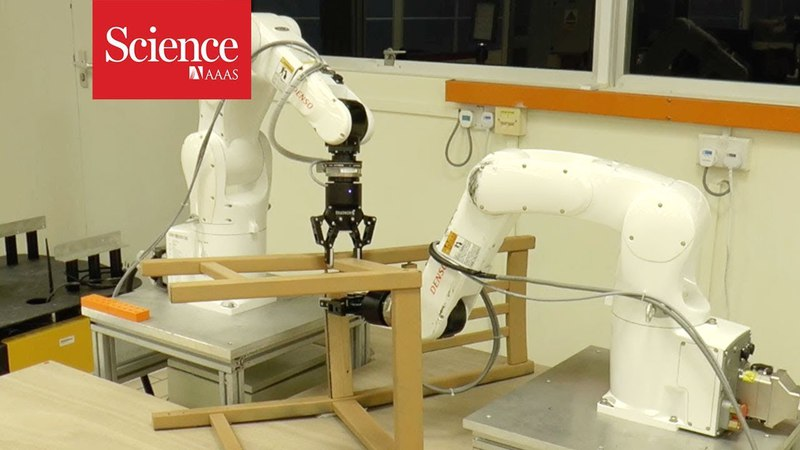 Can this robot build an IKEA chair faster than you