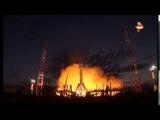 Видео пуска ракеты носителя со спутником