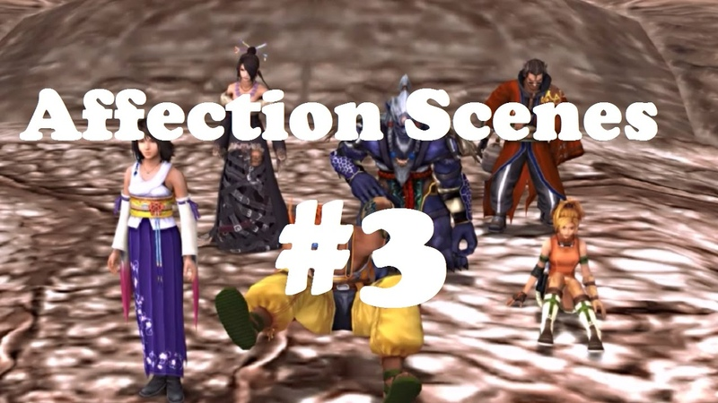 FFX PS4 Tidus Friends Jump Off Airship Affection Scenes 3