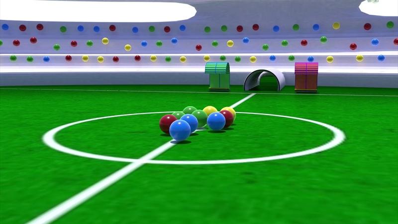 Palline RIMBALZINE | Mondiali di calcio: TIRI IN PORTA| Cartoni animati