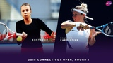 Anett Kontaveit vs. Pauline Parmentier 2018 Connecticut Open Round 1 WTA Highlights