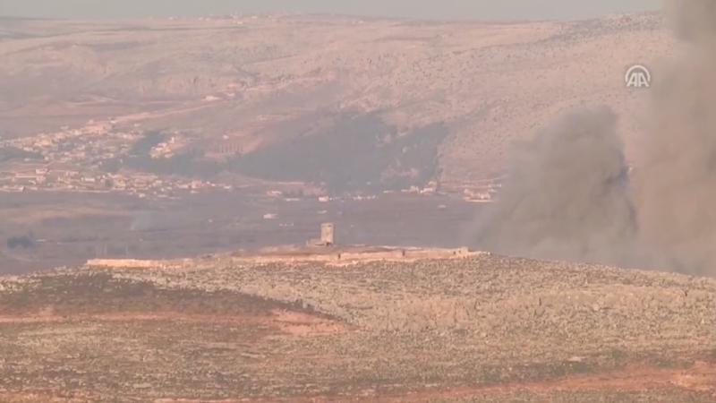 Afrindeki terör örgütü PKK mevzileri Zeytin Dalı operasyonuyla Türk jetleri tarafından bombalandı.