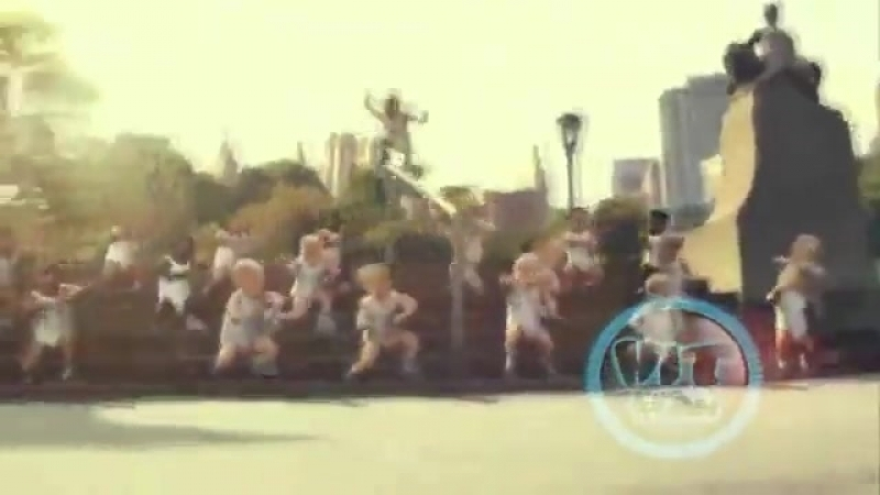 Gangnam Style PSY babies dancing Evian