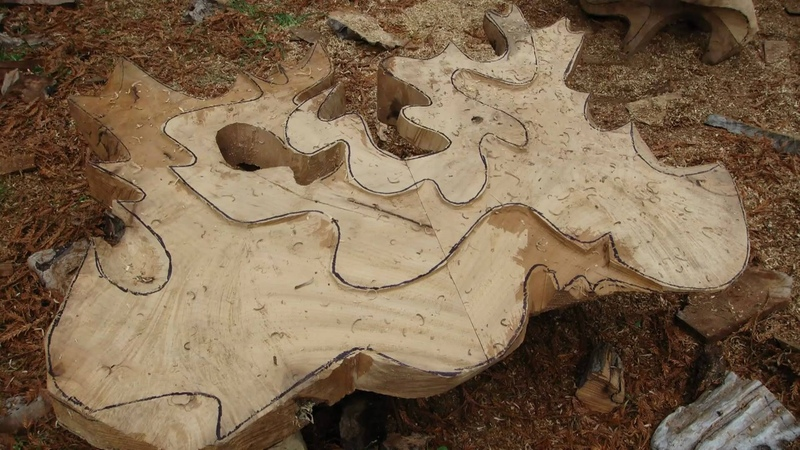 Carving the sculptural table Swallowtail. David Groth documentary, chapter 3 of 9.