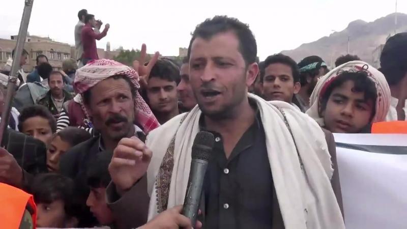 Des milliers de personnes ont manifesté dans les rues de Sanaa protestant contre la coalition dirigée par l'Arabie saoudite