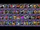 ВСЕ ГЕРОИ игры Черепашки ниндзя Легенды 273 Начало Турнира бой всех гиревой TMNT Legends