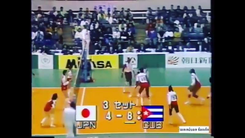 Атака в матче Куба - Япония
