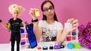 Barbie davet için çanta seçiyor! Alışveriş oyunu