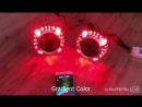RONAN RGB Bluetooth mutiful color angel eyes for Panamera shrouds with 2 5 bi xenon projector lens for H4 H7 car headlight