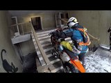 Dirt Bikes Riding Inside The Sanatorium! OMFG!