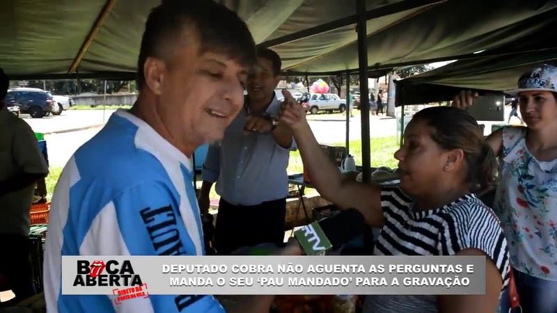 Deputado que votou para arrebentar professores vai às vias de fato com repórter Boca Aberta