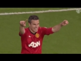 Man United against Aston Villa. 2013 EPL. RVP Hattrick