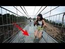 China Glass Bridge Crack Effect East Taihang Mountain Glass Bridge