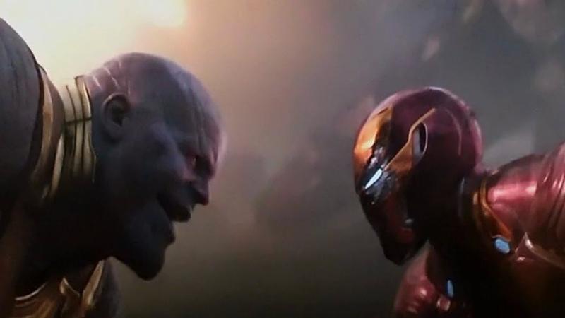 Железный Человек против Таноса. Полный Момент.Мстители Война Бесконечности.2018.