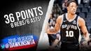 DeMar DeRozan Full Highlights 2018 12 02 Spurs vs Blazers 36 Pts 8 Rebs 6 Asts FreeDawkins