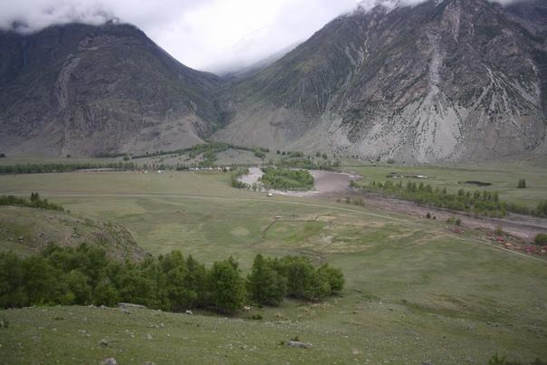 Поворот Чулышмана в сторону Телецкого от Кату-Ярыка.