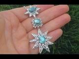GIA Certified VVS Natural Blue Zircon Diamond PLATINUM Estate Pendant Necklace - C793