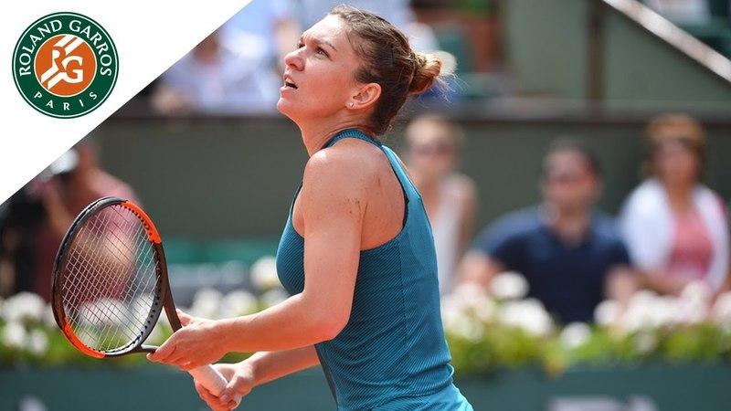 Simona Halep vs Elise Mertens Round 4 Highlights I Roland Garros 2018