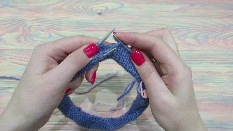 Провязывание петель с бросовой нити