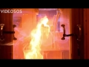 Взрыв газа в замедленной съёмке