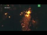 Видео с места крушения угнанного в США самолета