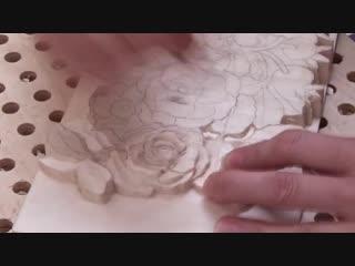 Резьба по дереву. Цветы шиповника-1 часть_ Wood carving. Canker-rose flowers-1 part