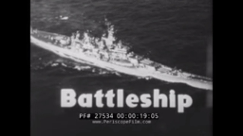 TOUR OF IOWA CLASS BATTLESHIP USS WISCONSIN BB-64 1950s ADVENTURE TODAY TV SHOW 27534