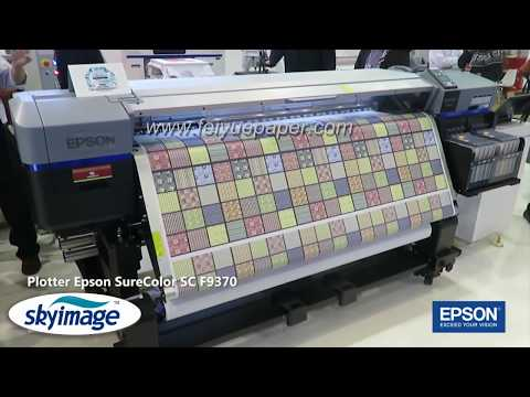 High Quality Epson Plotter Surecolor F9370 Sublimation Printer Printing with Transfer paper