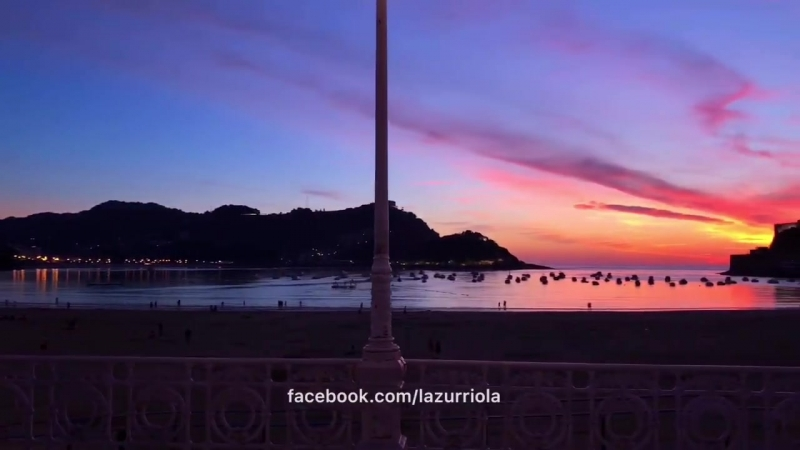 San Sebastian de noche, País Vasco. Ночной Сан Себастьян, Страна Басков