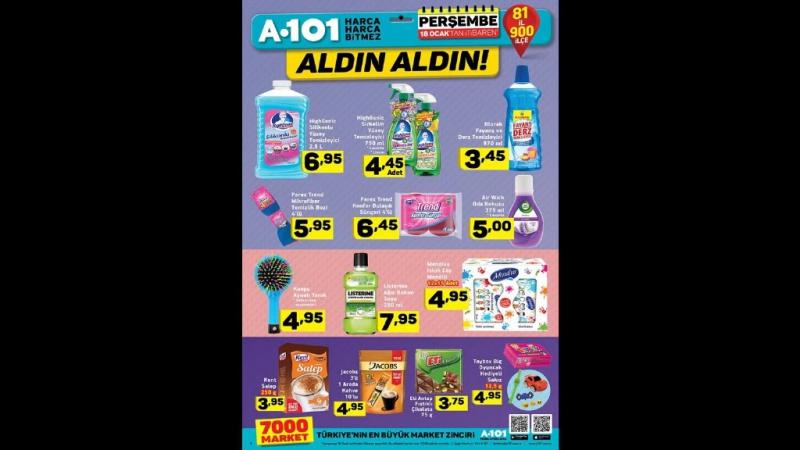 A101 18 Ocak 2018 - 25 Ocak 2018 Aktüel Ürünler Katalogu