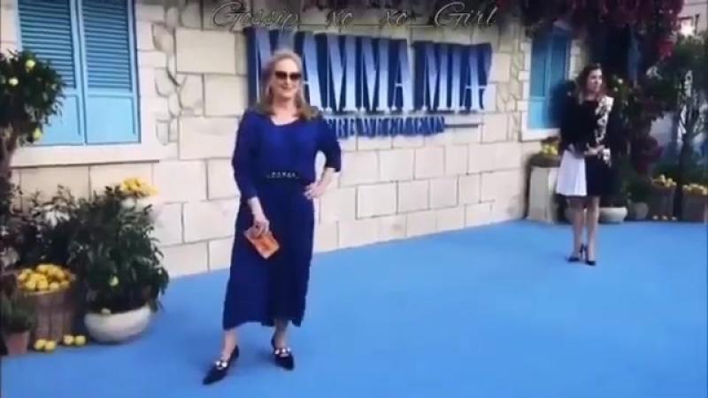 Meryl Streep Premiere Mamma Mia Here we go again