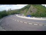 ДТП в Сочи. Мамайка, грузовик опрокинулся
