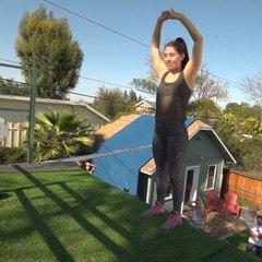"Junktramp on Instagram: ""Flips by @cassiecutler17 . . #trampoline #trampwall #backflip #backflips #frontflip #junktramp #dance #acrodance #flexible..."