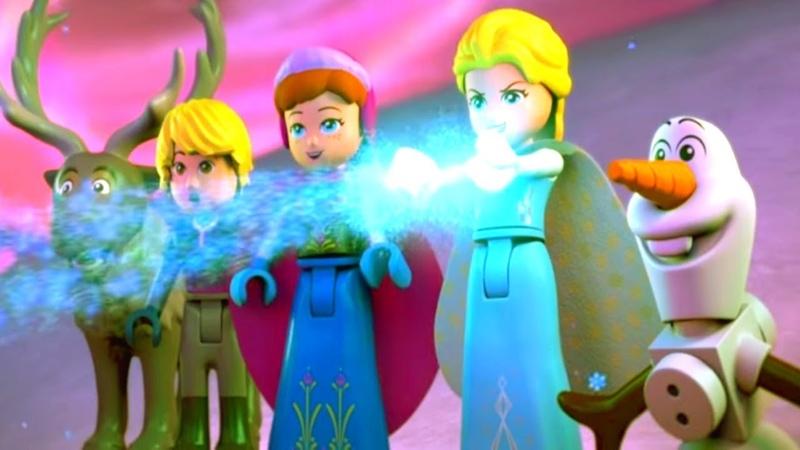 Мультфильм LEGO Холодное сердце - северное сияние HD