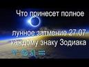 Что принесет полное лунное затмение 27.07 каждому знаку Зодиака
