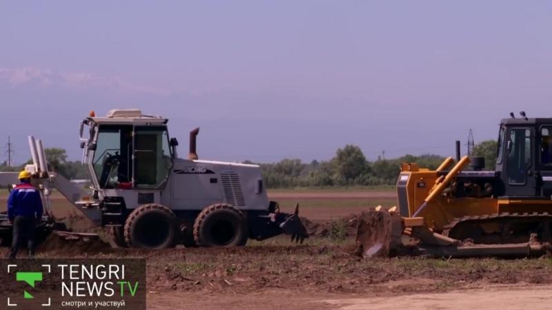 Начало строительства БАКАД рядом с Алматы в Казахстане