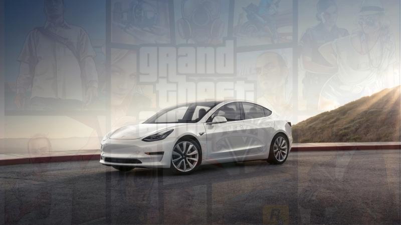 Tesla Model 3Estacionamento De Deficientes