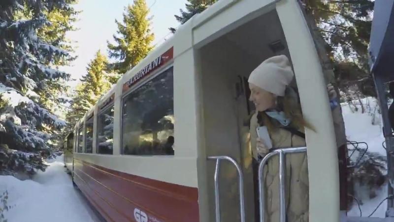 Ретро поезд по маршруту Бакуриани - Боржоми