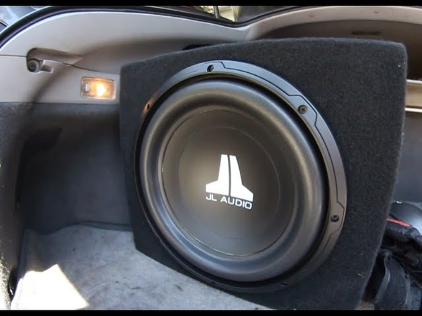JL Audio 12w0v3 12 inch sub JL jx250 1 amp Review 2006 Prius
